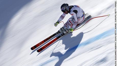 Muzaton trains ahead of the world championships in Cortina d'Ampezzo, Italy.