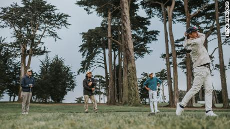 """While Random Golf Club is a """"hang"""" for fans, Lang thinks it also seeks to """"question the traditional game of golf."""""""