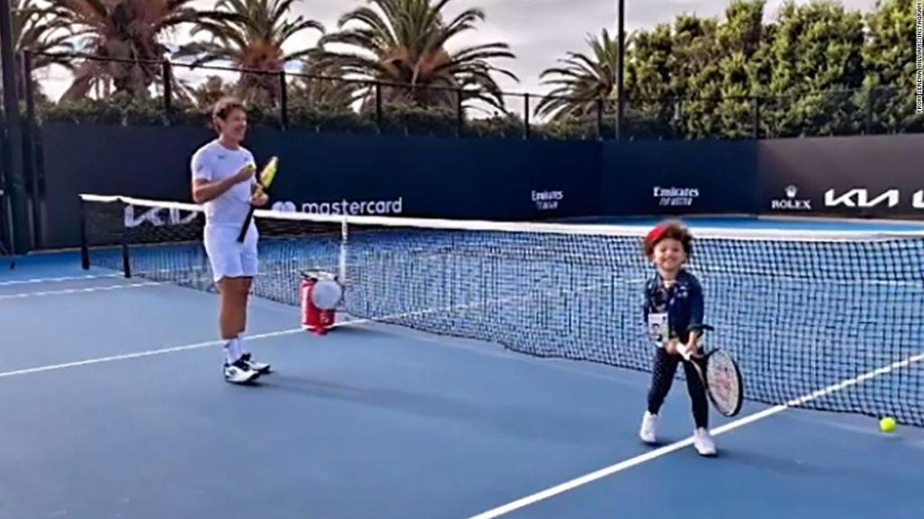 Serena Williams shares video of her 3-year-old daughter Olympia training with tennis coach Patrick Mouratoglou