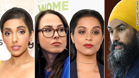 From left: Poet Rupi Kaur, author Meena Harris, comedian Lilly Singh, and NDP leader Jagmeet Singh