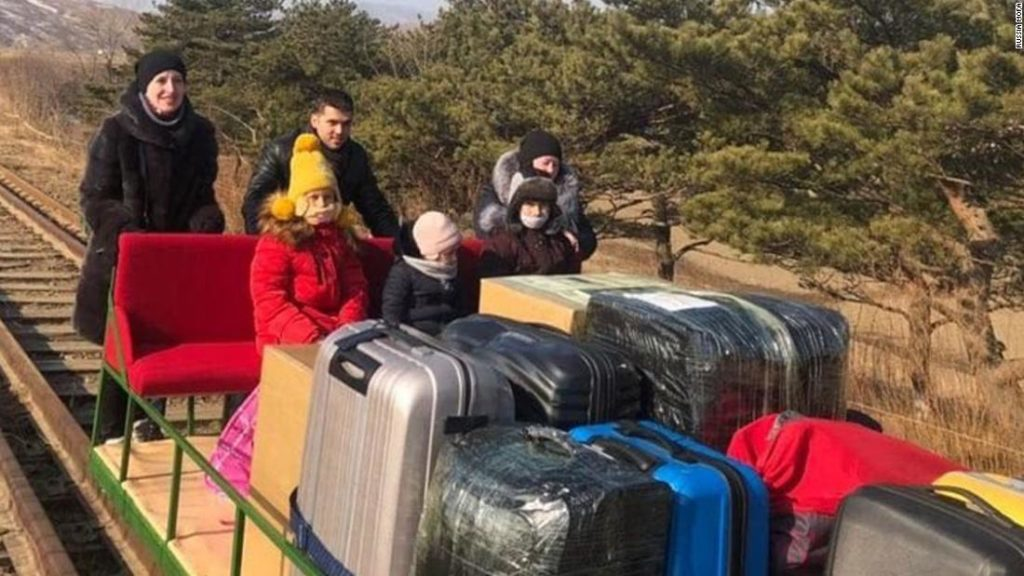 Russian diplomats leave North Korea by hand-pushed rail trolley due to Covid-19 restrictions