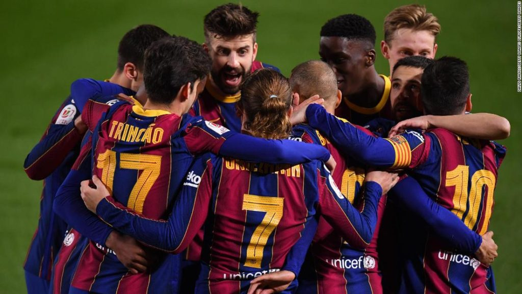Barcelona given some respite from off-field issues with stunning comeback against Sevilla to reach Copa del Rey final