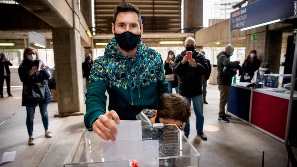 Lionel Messi: Barcelona stars past and present come out to vote as Joan Laporta wins pivotal presidential election