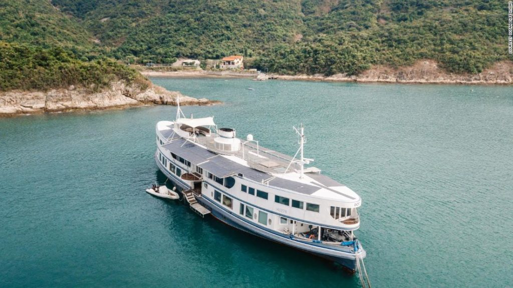 Hong Kong Star Ferry converted into a luxury yacht