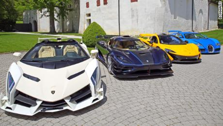 Politician's seized $13 million supercar collection to be auctioned off