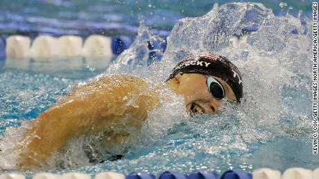 Ledecky competes in the final of the 400m freestlye at the 2019 US Open championships in Atlanta.