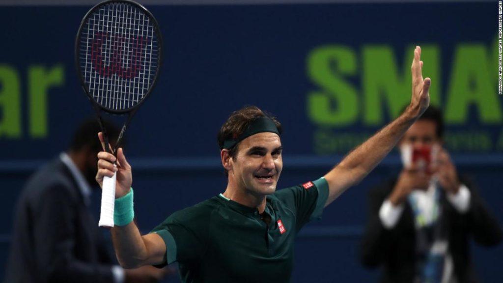 Roger Federer defeats Dan Evans as he returns for first match in 13 months