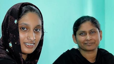 Naseeba and Hadia, after they had secured their freedom.