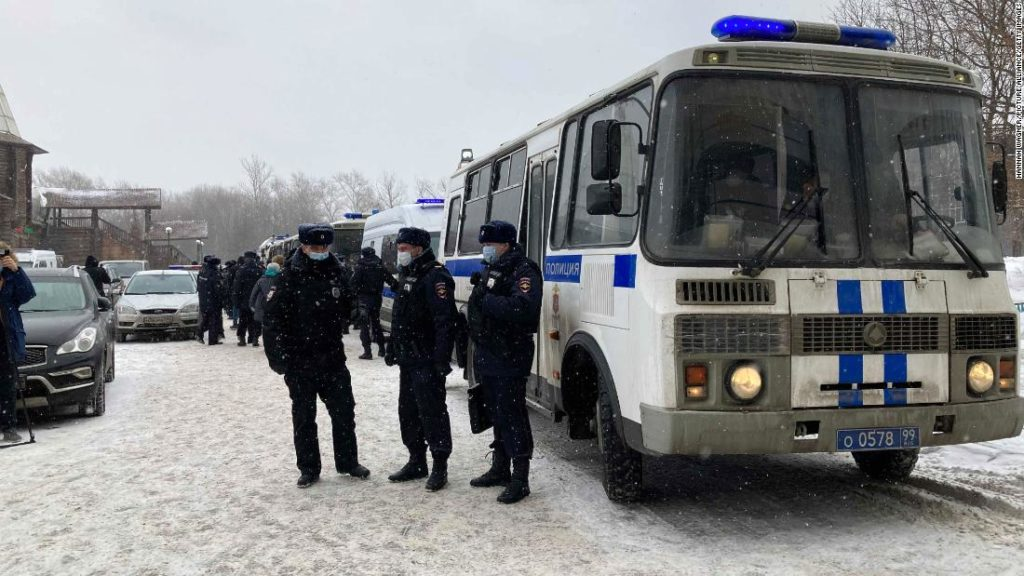 Russian opposition activists detained at a democratic forum in Moscow. The Kremlin says they were breaking Covid-19 protocol
