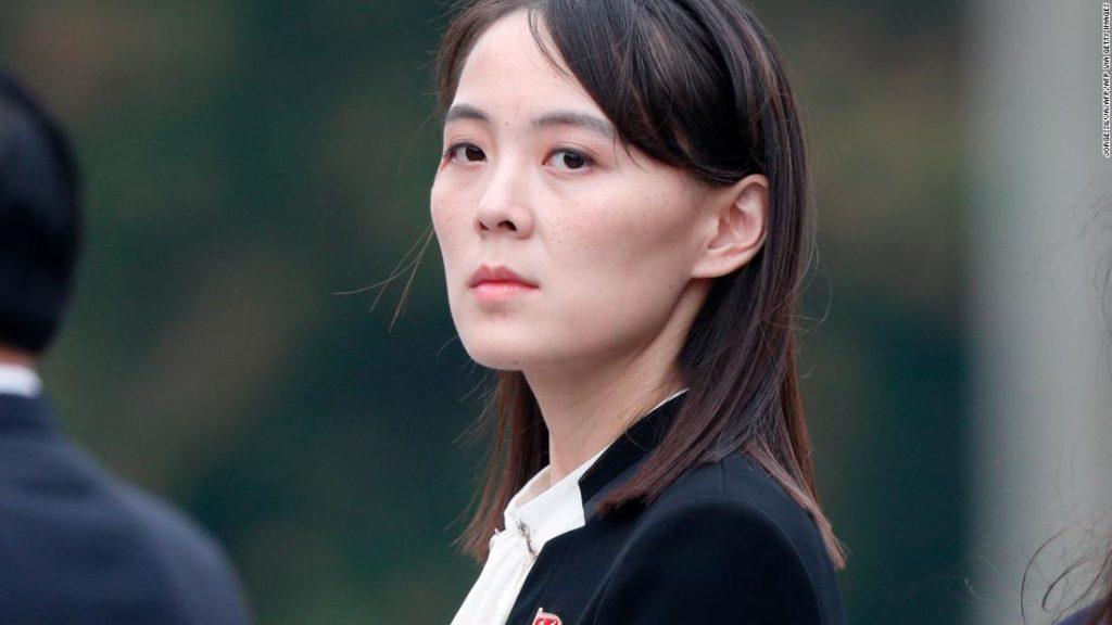 North Korea's Kim Yo Jong breaks silence to warn US against 'causing a stink'