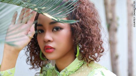 Chinese Congolese singer and realty TV star Zhong Fei Fei.