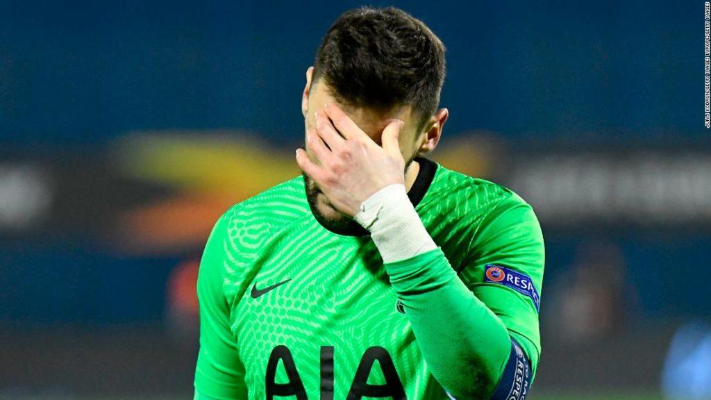 Tottenham Hotspur's Europa League exit branded a 'disgrace' by captain Hugo Lloris