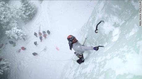 """Black Ice"" documented an ice climbing trip to Montana, US."