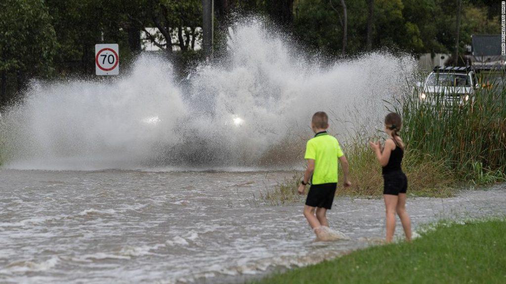 Entire house floats away as flash floods batter Australia's east coast