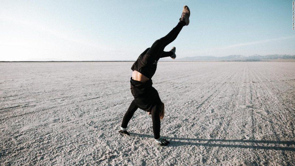 Michael Miraglia completes his own Strongman Marathon on Utah's Bonneville Salt Flats