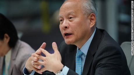 Cui Tiankai, China's ambassador to the US, speaks during an interview in New York, on Friday, May 24, 2019.