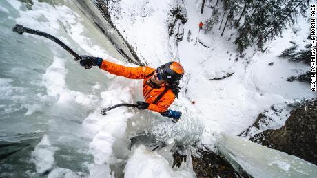 Manoah Ainuu is an accomplished ice climber.