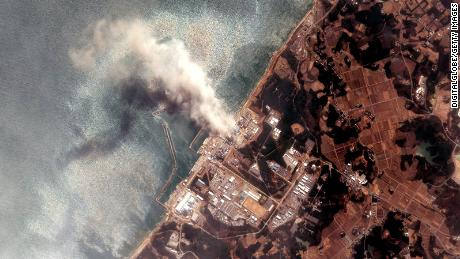 Smoke pours from the Fukushima Daiichi Nuclear Power plant days after the earthquake and tsunami.