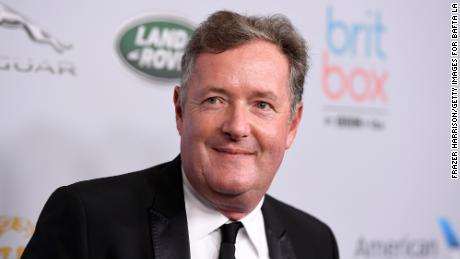 British TV host Piers Morgan, pictured here in October 2019, said he didn't believe Meghan's version of events.