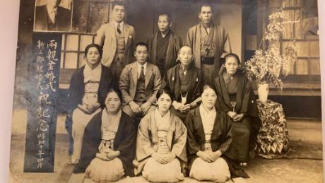 Kane Tanaka, age 32 in 1935, is pictured in the center of the front row.
