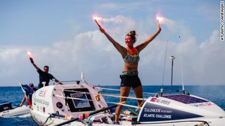 Jasmine Harrison, a 21-year-old from North Yorkshire, set a new world record for the youngest female solo rower to row any ocean after completing the Talisker Whisky Atlantic Challenge.