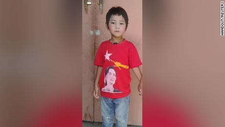 This undated handout picture shows 6-year-old Khin Myo Chit who was shot at her home during protests against military coup in Mandalay, Myanmar.