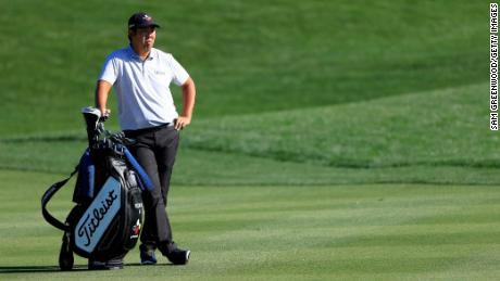 An looks on during the first round of THE PLAYERS Championship.