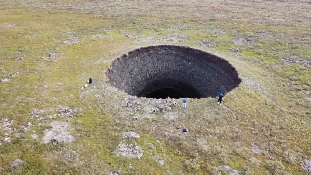Scientist explains how massive Siberian craters are formed