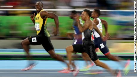 The image Usain Bolt smiling mid-race went viral.
