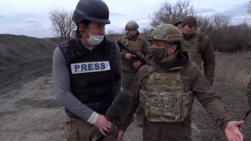 Unprecedented footage shows front line of Ukrainian conflict with Russia