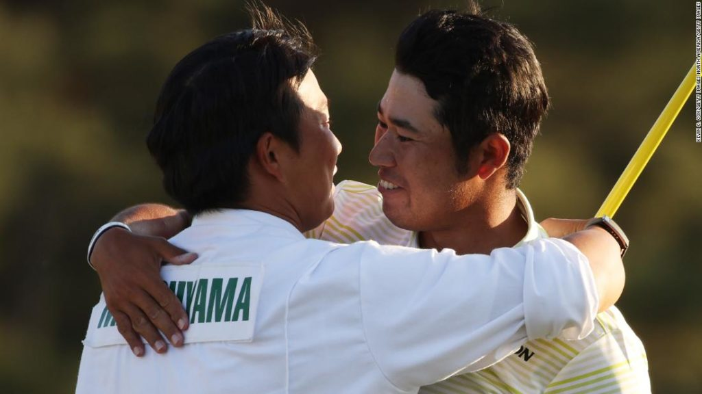 The Masters: Hideki Matsuyama's caddie bowing respectfully to Augusta symbolizes emotional win for a proud Japan