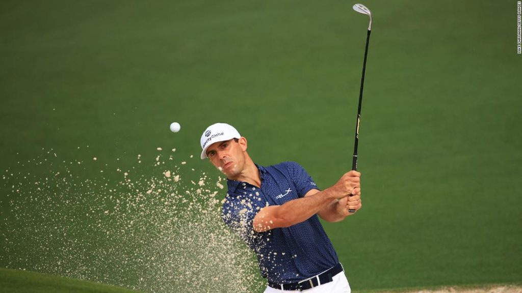 Billy Horschel: A day after playing a shot from the water, he is back at it again