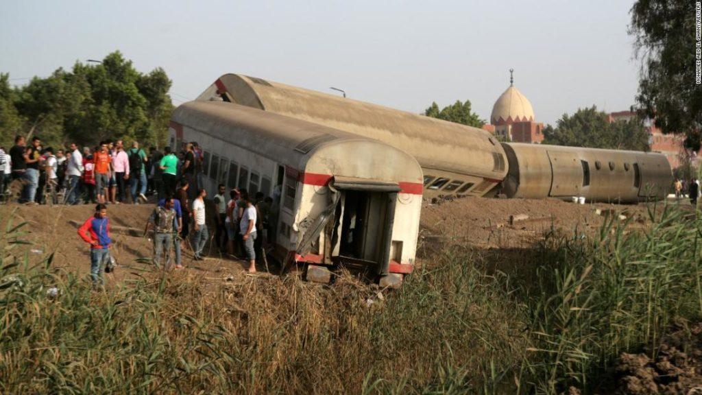 Egypt train crash: At least 97 injured in derailment