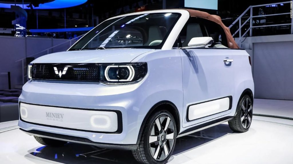 GM reveals tiny, adorable electric convertible to be sold in China