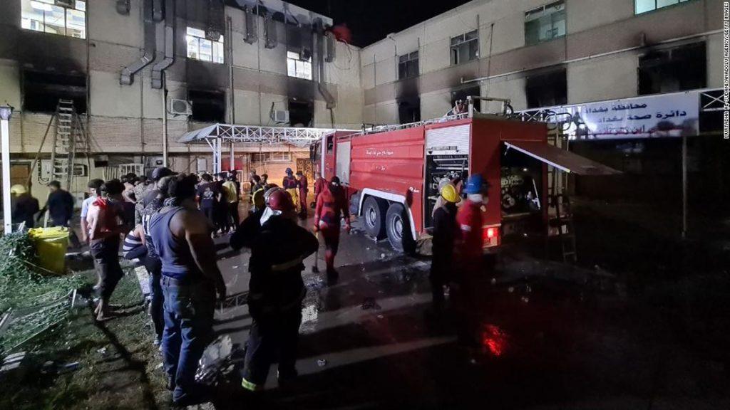Baghdad hospital fire: At least 82 killed