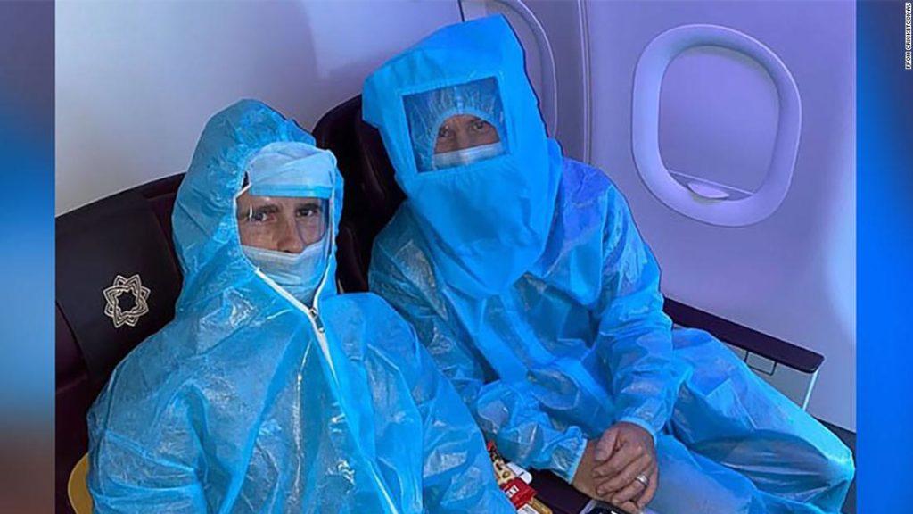 IPL: Australian cricketers wear full PPE on flight to Delhi; Aussie PM tells IPL stars to make 'own arrangements' to return home