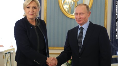 Marine Le Pen is known to have links to Russian President Vladimir Putin.