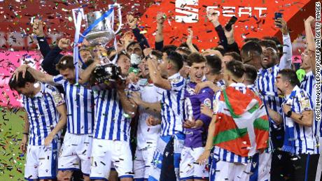 Real Sociedad's Spanish Copa del Rey final win was the first time the club had won a trophy since 1987.