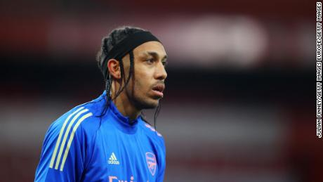 Pierre-Emerick Aubameyang is recovering after contracting malaria.
