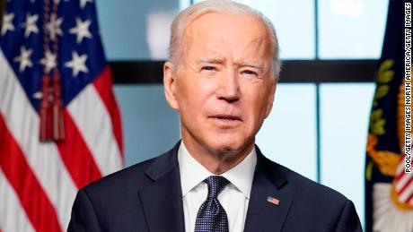 President Joe Biden speaks from the White House about the withdrawal of US troops from Afghanistan on April 14, 2021.
