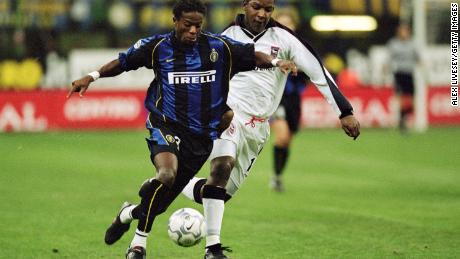 Mohamed Kallon featured for clubs including Inter Milan and Monaco.