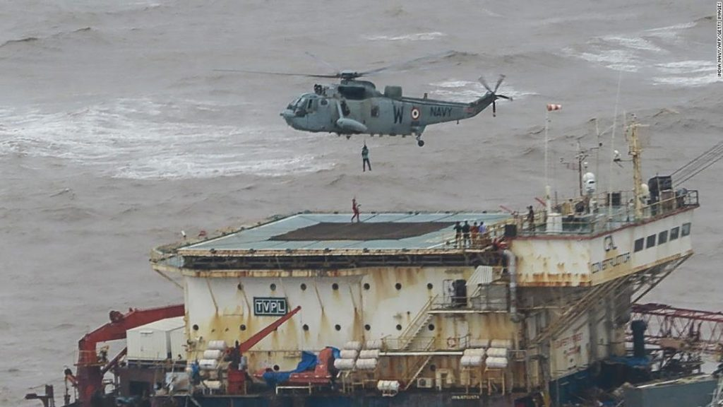 Cyclone Tauktae: Indian Navy searches for 75 missing at sea
