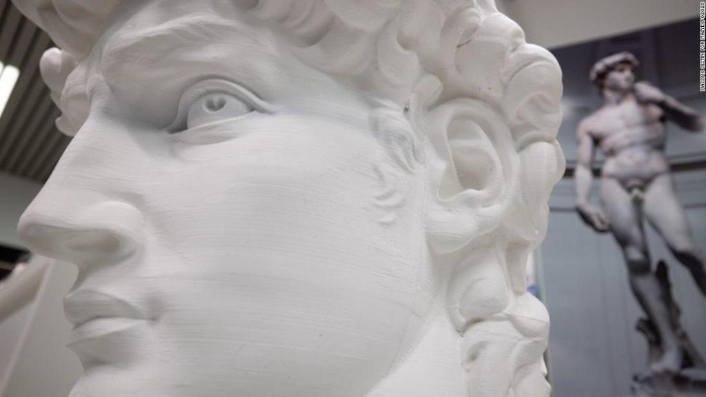 Michelangelo's David has 17-foot, 3D-printed 'digital twin' on display in Dubai