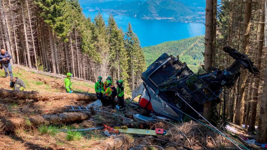 Lake Maggiore: At least 14 killed as Italian cable car plunges into woodland
