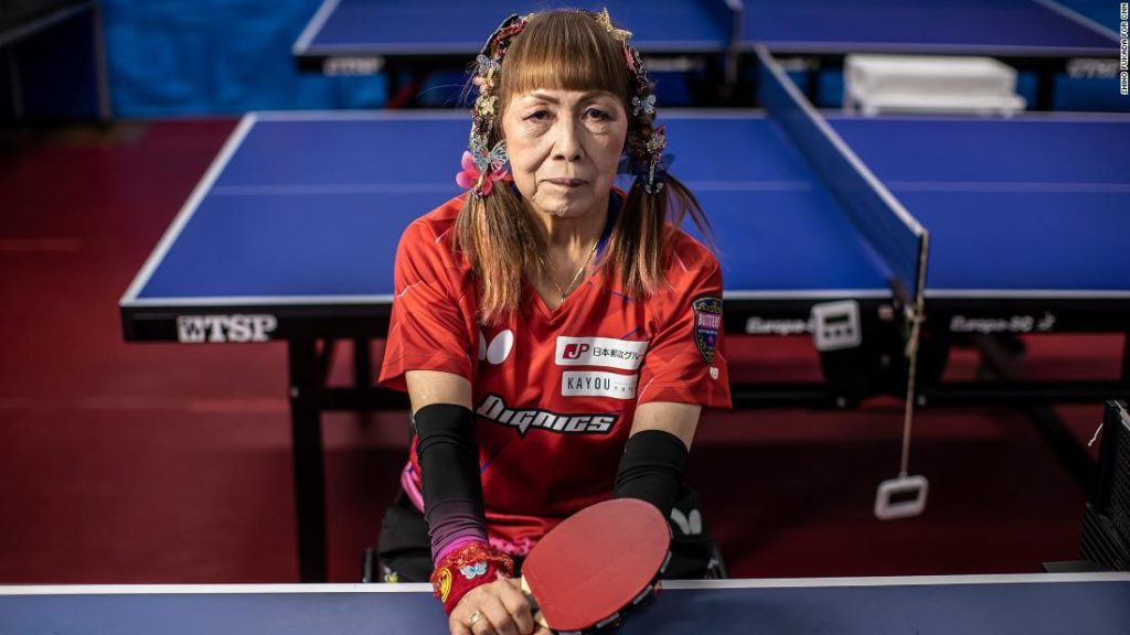 Japan's 'Butterfly Lady' of Paralympic table tennis says she's risking her life for Tokyo 2020