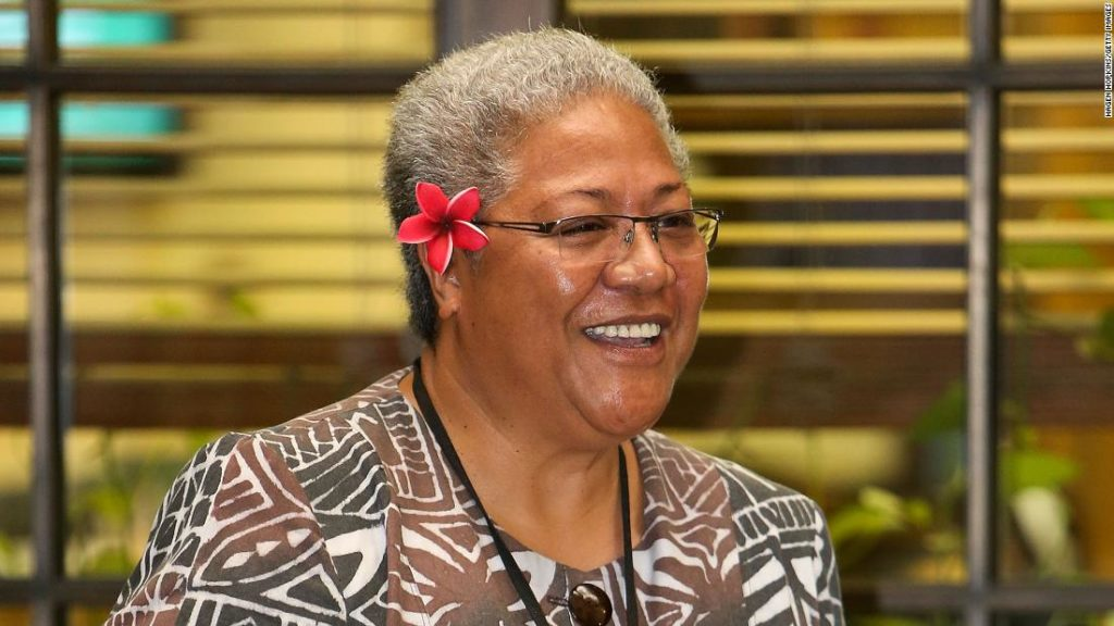 Samoa swears in its first female PM in a tent after she is locked out of Parliament