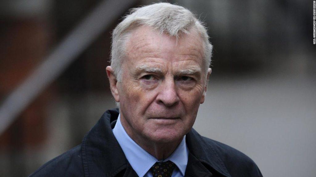 Former motor racing boss Max Mosley dies aged 81