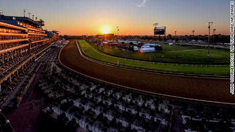 Scenes from around the track as horses prepare for the Kentucky Derby and Kentucky Oaks at Churchill Downs on April 25, 2021.