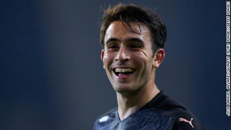 Eric Garcia playing with Manchester City in the UEFA Champions League against FC Porto in December. The defender also joined Barcelona this week.