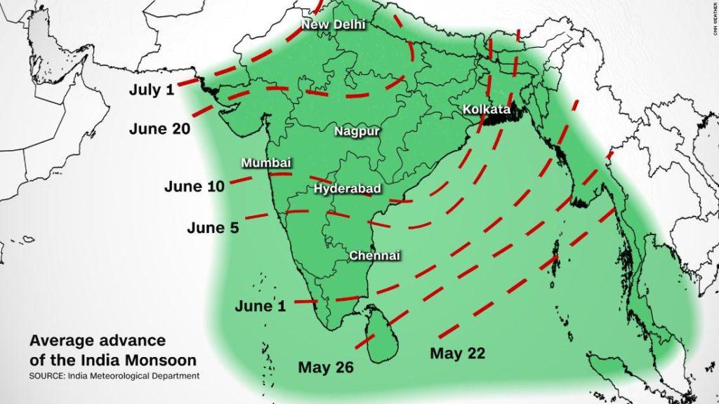 India monsoon is starting - CNN